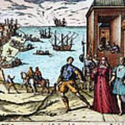 Columbus: Departure, 1492 Art Print
