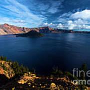 Crater Lake Blues Art Print