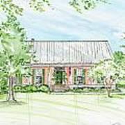 Custom House Rendering Sample Art Print