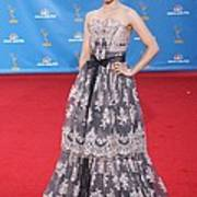 Dianna Agron Wearing A Carolina Herrera Print by Everett