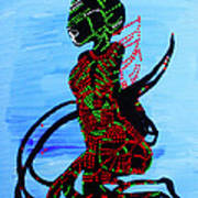 Dinka Bride - South Sudan Art Print