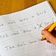 Dyslexia Testing Art Print by Photo Researchers, Inc.