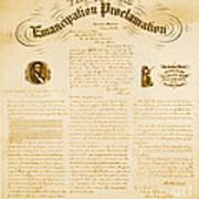 Emancipation Proclamation Art Print