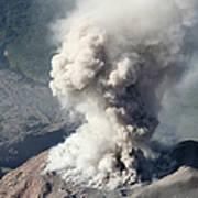 Eruption Of Ash Cloud From Santiaguito Art Print