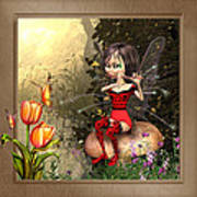 Fairy Playing The Flute Art Print