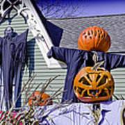 Fall  Halloween On Tillson Street Art Print