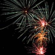 Fireworks Art Print by Cindy Singleton