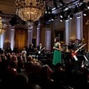 First Lady Michelle Obama Speaks Art Print
