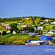 Fishing Village In Newfoundland Art Print by Elena Elisseeva