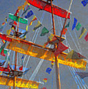 Flags Of Gasparilla Art Print