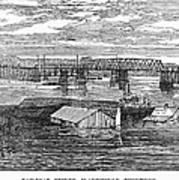 Flood: Clarksville, 1874 Art Print