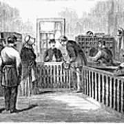 Freedmens Bureau, 1866 Art Print