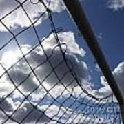 Goal Against Cloudy Sky. Art Print