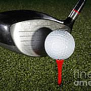 Golf Ball And Club Art Print