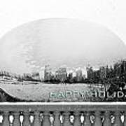 Happy Holidays From Chicago Art Print