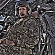 Hdr Image Of A Pilot Sitting Art Print