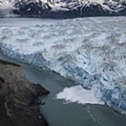 Hubbard Glacier Encroaching On Gilbert Point Art Print
