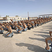 Iraqi Police Cadets Being Trained Art Print by Andrew Chittock