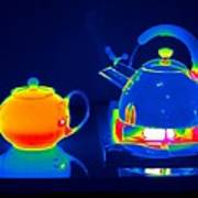 Kettle And Teapot, Thermogram Art Print