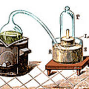 Lavoisiers Apparatus To Study Air Art Print