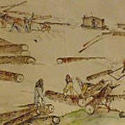 logging in the Pacific N.W. Art Print