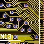 Macrophotograph Of A Circuit Board Art Print