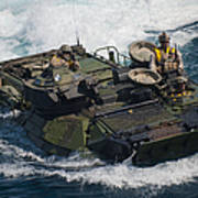 Marines Navigate An Amphibious Assault Art Print