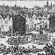 Massacre Of Huguenots Art Print