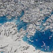 Meltwater Lakes On Hubbard Glacier Art Print