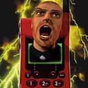 Mobile Phone Rage Art Print