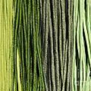 Multi-colored Striped Fabrics Art Print