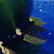 North Seawall At Low Tide Art Print
