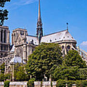 Notre Dame Cathedral Paris France Art Print