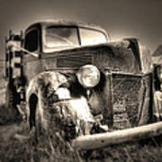 Old Truck At Bodie Art Print