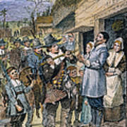 Pilgrims: Thanksgiving, 1621 Art Print