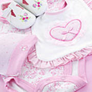 Pink Baby Clothes For Infant Girl Art Print by Elena Elisseeva