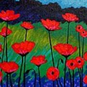 Poppy Corner Art Print by John  Nolan