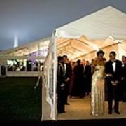 President And Michelle Obama Wait Art Print