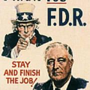 Presidential Campaign, 1940 Art Print