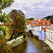 Red Roofs Of Prague Art Print