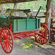 Red Wheels Art Print