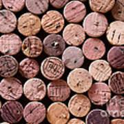 Red Wine Corks Art Print by Frank Tschakert