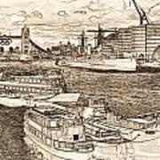 River Thames Art Art Print