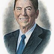 Ronald Reagan (1911-2004) Print by Granger