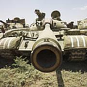 Russian T-54 And T-55 Main Battle Tanks Art Print
