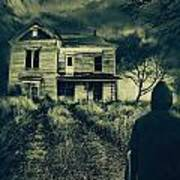 Scary Abandoned House On Hill Art Print