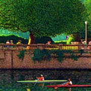 Scullers At Coal Harbour Art Print by Neil Woodward