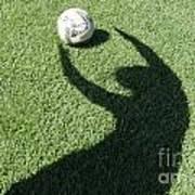 Shadow Playing Football Art Print