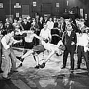 Silent Film Still: Boxing Art Print