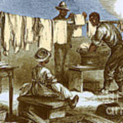 Slaves In Union Camp Art Print